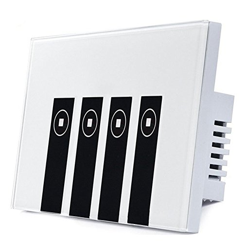 Goldwin Smart WiFi Wall switch 4 Gang Wall Touch Panel light switch,Compatible with Amazon Alexa Voice control,No hub Require,Remote crontrol timer switch from Anywhere