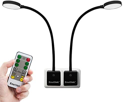 LED Wandleuchte Steckdosenleuchte Leseleuchte Lampen mit Dimmbar Fernbedienung Netzstecker und Touch Schalter 4W Tageslicht 5000K 2er Lampen und 2er Fernbedienung von Enuotek