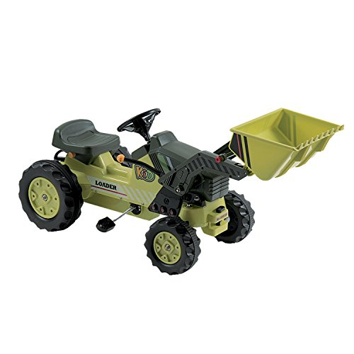 Dexton Pedal Tractor with Loader, Green ()