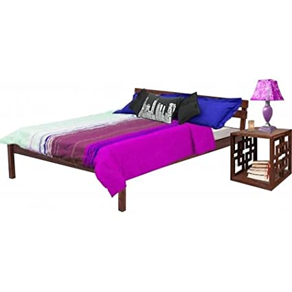 Nidoo Simple King Size Bed With Head Rest Am Ksb 11 Amazon In