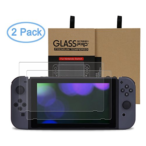EletecPro 2-Pack Nintendo Switch Tempered Glass Screen Protector Film for 6.2 inch Nintendo Switch 2017 New