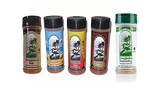 Everglades Seasoning All Purpose Sampler Cactus Dust Heat Fish and Chicken Rub, 6 oz./8 oz, 5 Count by Everglades (Image #1)
