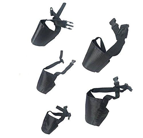 Alfto Dog Muzzles Suit ,Adjustable Dog Mouth Cover Anti-biting Barking Muzzles for Small Medium Large Extra Dog ,Dog Muzzle Mesh Mask 1set(5pcs/set),Black