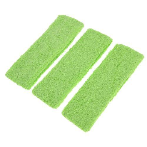 Bandeau Terry (eDealMax 3 pièces en Tissu élastique Terry Femmes Bandeau cheveux Reliure Bande, Vert, 0,11 Pound)