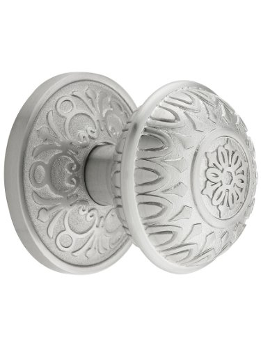 Pair Dummy Set - Lancaster Door Set With Lancaster Knobs Double Dummy In Satin Nickel. Old Door Knobs.