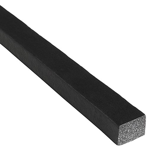 "Trim-Lok Solid Rectangle Rubber Seal – EPDM Foam Rubber Seal with High Tack (HT) Adhesive – Door & Window Weather Seal for Your Home, Car, Truck, RV or Boat – .25"" Height, .5"" Width, 25' Length by Trim-lok"