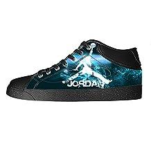 RenBen Custom NBA Michael Jordan Men's Canvas Shoes Footwear Zipper Casual Shoes