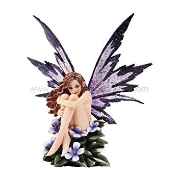 (*New* 2013 Amy Brown Fantasy Periwinkle Flower Fairy Statue Enchanted 6