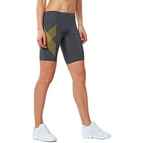 mujeres s de La camiseta las 2xu Tr2 Gold Panty Short Ss17 w1Bqt8Bx