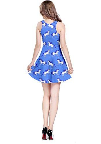 Unicorn Sleeveless Sky Princess Wonderland XS Drawfs Womens Alice CowCow Mermaid 5XL Blue Rabbit Aladdin Dress zF5nqOpxw