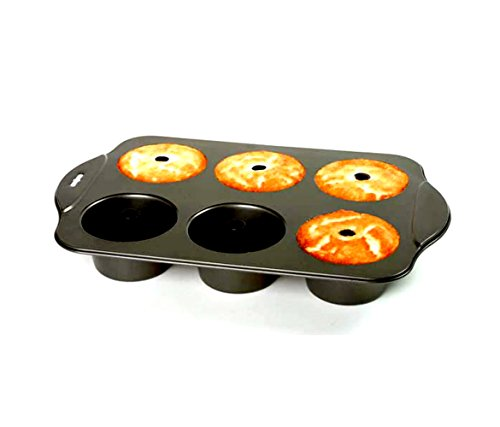 Mozlly Multipack - Norpro Nonstick 6 Cup Mini Angel Food Bundt Cake Pan - 17 x 11 x 2.25 inch - Easy Release and Cleaning - Recipes Included - Kitchen Bakeware (Pack of 6) by Mozlly