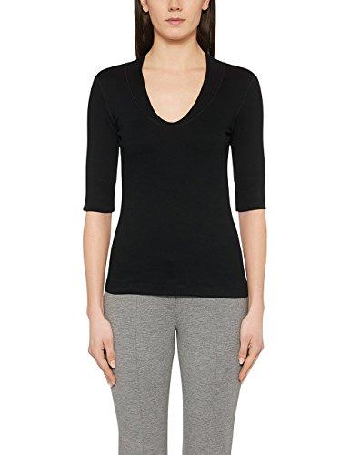 Marc Cain Essentials, Camiseta para Mujer Negro (Black 900)