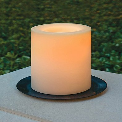 Candle Impressions 6-Inch x 6-Inch Flameless LED Pillar Candle with Timer in Cream
