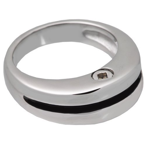 Memorial Gallery SSR205 Size 12 Premium Stainless Steel Zenith Ring Cremation Pet Jewelry, Size 12 (Zenith Ring)