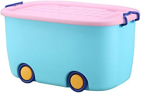 Storage Box Caja de Almacenamiento de Juguete Cajas de Almacenamiento de plástico con Tapa Ropa de Juguete Infantil Cajón de Almacenamiento de bocadillos con Ruedas (Color : Azul): Amazon.es: Hogar