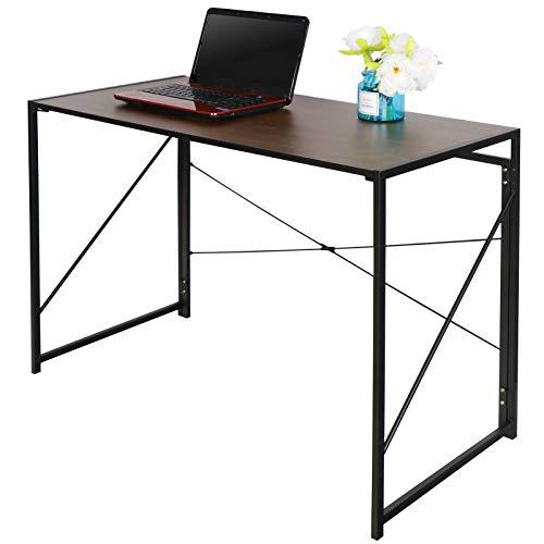 Folding Writing Computer Desk Home Office PC Laptop Table Multipurpose Workstation with Solid Steel Frame Waterproof Desktop