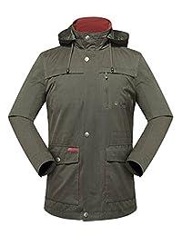 Men Novelty Hooded Anti-wrinkle Midium Long Jacket Coat Windbreaker Outerwear