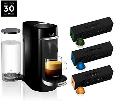Nespresso VertuoPlus Deluxe Coffee and Espresso Maker by De Longhi, Black, with Best-Selling Coffees