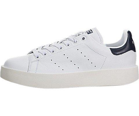 best service 31e7a 666d7 adidas Originals Women's Stan Smith W Fashion Sneaker, Black/White/Navy 5