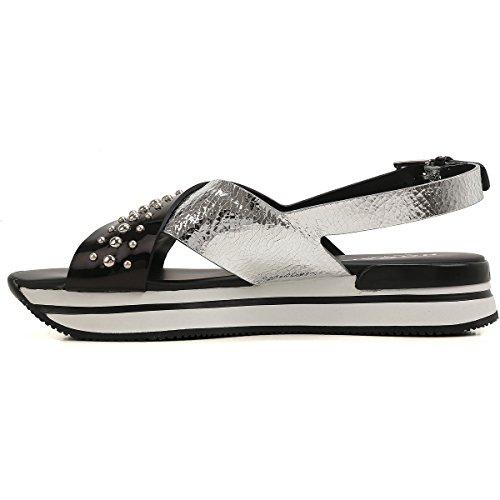 Borchiati Mod Con Verniciata Sandalo Donna In Hxw2570y260gef0353 H257 Pelle Inserti Hogan nSOgq8Sz1