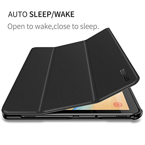 Infiland Samsung Galaxy Tab S4 Case with S Pen Holder Auto Wake/Sleep for Samsung Galaxy Tab S4 10.5 Model SM-T830/T835 2018 Release, Black