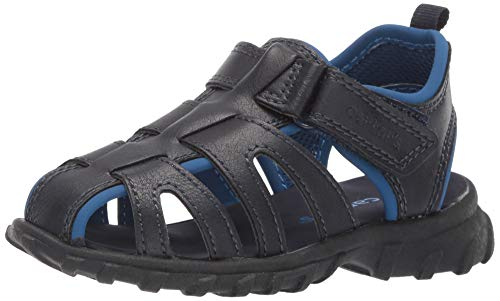 carter's Boy's Douglas Casual Fisherman Sandal, Navy, 11 M US Toddler