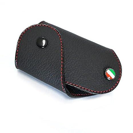 GoBadges Fiat 500 Bandera Italia con Llavero, Negro: Amazon ...
