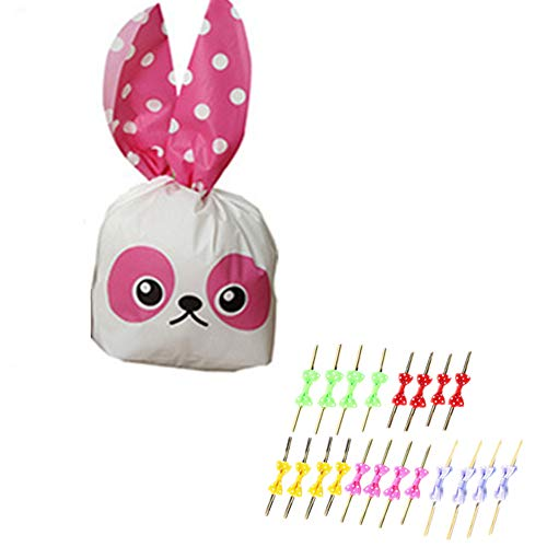 20Pcs of Children's Birthday, Halloween Candy, Gift Wrapping, Cute Rabbit Plastic Bag for Gifts, Candy, Small Toys, Chocolate, Ornaments, Hair Clips, Food, Biscuits (10) -
