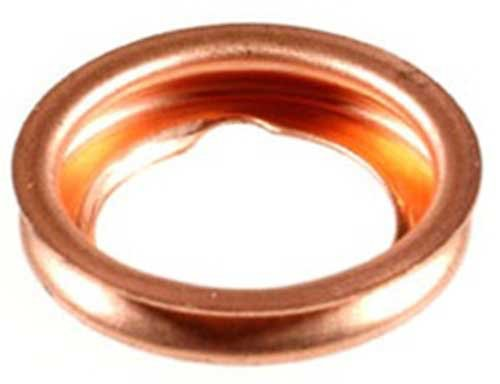 Clipsandfasteners Inc 10 Copper Oil Drain Plug Gaskets Compatible With Ford F4xy 6734 A And Nissan 11026 01m02
