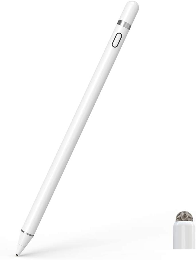CiSiRUN Lápiz Táctil Lápiz Capacitivo para iPad Recargable, Punta Ultrafina de 1,5 mm y Puerto de Carga magnética, Compatible con Apple iPad, iPhone y tabletas