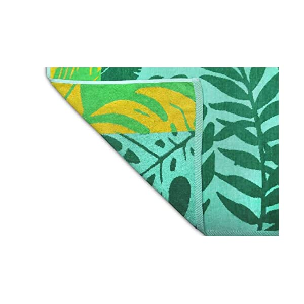 jilda-tex Telo mare 90 x 180 cm, asciugamano da spiaggia, asciugamano 100% cotone biologico, velour, spugna, GOTS… 4 spesavip