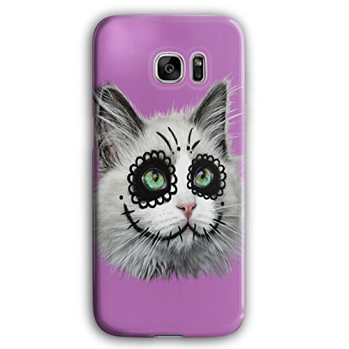 [Halloween Kitty Cat Disguise NEW Black 3D Samsung Galaxy S7 Edge Case | Wellcoda] (Cute Halloween Names For Kittens)
