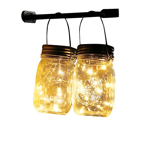 LED Fairy Light Color Changing Garden Decor Solar Mason Jar Lid Cap Light String Decorative Wire String Lights for Bedroom,Gift (Yellow)