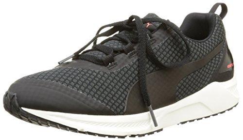Puma Men's Ignite Xt Core Asphalt, Black And Red Blast Running Shoes - 12 US