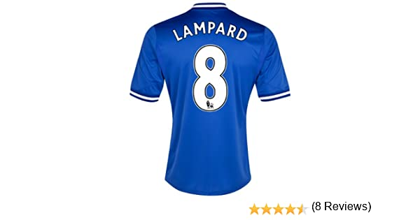 Amazon.com : Chelsea Home 2013/14 Jersey (Official Adidas) with Lampard 8 - Size X-Large : Books