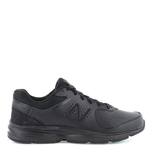 New Balance Men's MW411v2 Walking Shoe,  Black, 9.5 M US by New Balance
