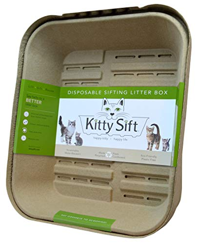 Kitty Sift Disposable Sifting Litter Box and Liners, Large and Jumbo Sizes