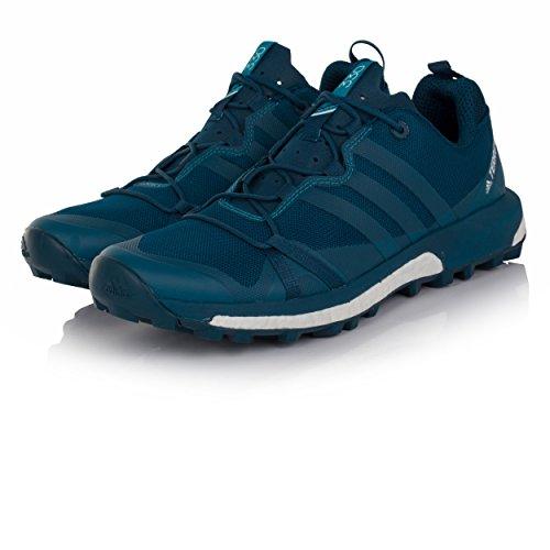adidas Herren Terrex Agravic Trekking-& Wanderhalbschuhe, Blau, 43.3 EU verschiedene Farben (Azunoc/Petmis/Ftwbla)