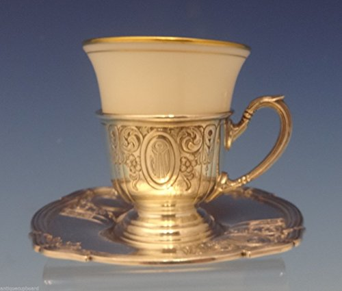 Liner Demitasse (Saint Dunstan Chased by Gorham Sterling Demitasse Cup w/Saucer & Liner (#0611))