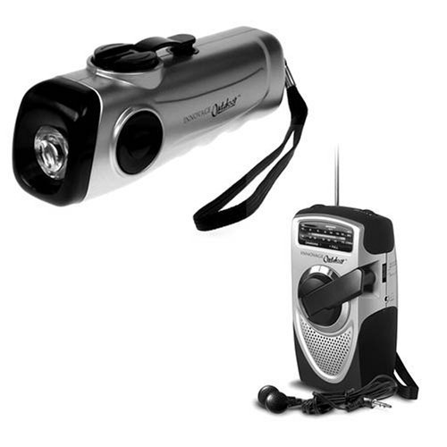 Radio and Flashlight Wind Up Set by Innovage