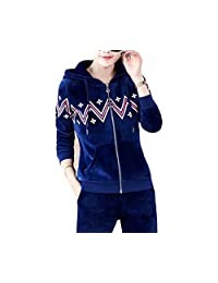 Chicside Women's Regular Fit zipper Solid color Long Running Tracksuit