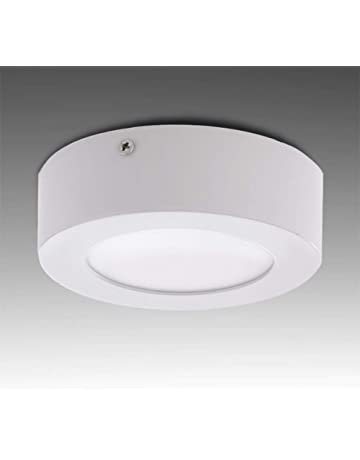 Greenice | Plafón LED Circular Superficie Ø120Mm 6W 470Lm 30.000H | Blanco Cálido