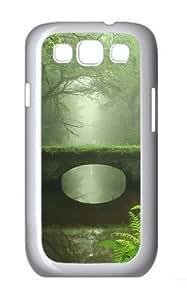 Bridge Custom Hard Back Case Samsung Galaxy S3 SIII I9300 Case Cover - Polycarbonate - White
