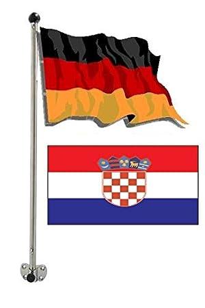 Flaggenstock aus Edelstahl Schlauchbootflaggenstock für Heckspiegel