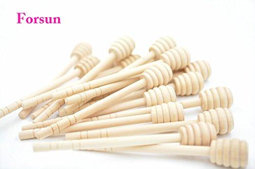 Honey Dippers , Portable Mini Jam Honey Dipper Stirring Rod Wooden Muddler Honey Stick ()