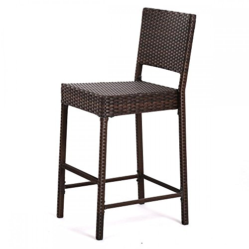 Escort Quality Outdoor Indoor Wicker Bar Stools New Brown Patio Chair Furniture (Frontgate Dining Arm Chair Cushion)