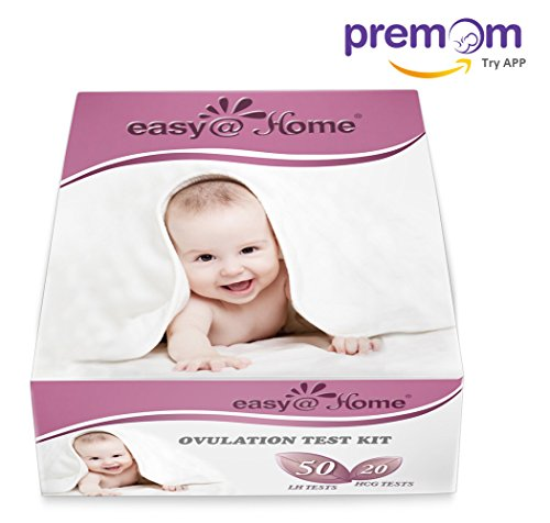 Easy@Home 50 Ovulation Test Strips and 20 Pregnancy Test Strips Kit - the Reliable Ovulation Predictor Kit (50 LH + 20 HCG)