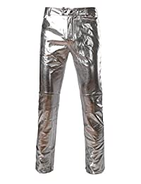 Everbeauty Men's Modern Shiny PU Leather Pants For Nigntclub/Dance