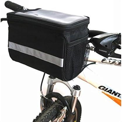 hebey bicicleta cesta bolsa de manillar con plateado gris ...