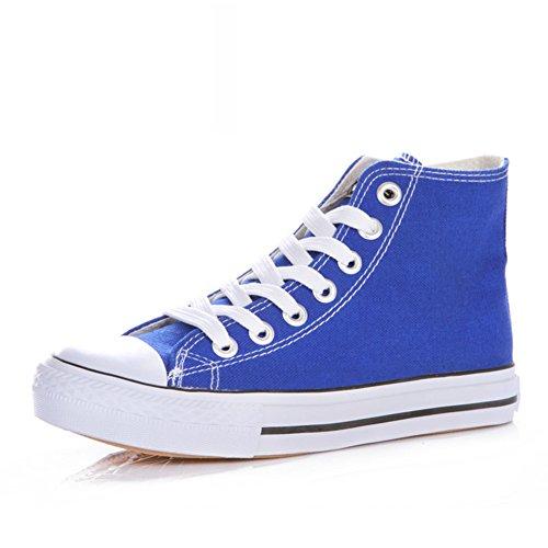 Zapatillas Primavera,Blanco Zapatos Flat-bottom,Estudiante Alta Clásica Pareja Zapatos,Zapatos Deportivos H